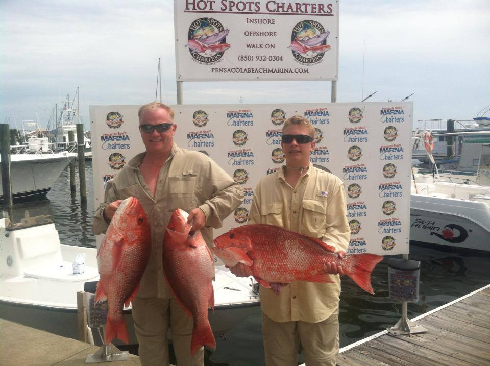 Hot Spots Report for Pensacola Fishing Charters October 2013
